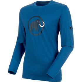 Mammut Logo Longsleeve Men ultramarine melange